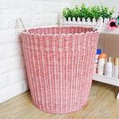 特大號塑料編織筐收納籃玩具框洗衣簍桶臟衣服裝放的神器手提籃子 洛小仙女鞋