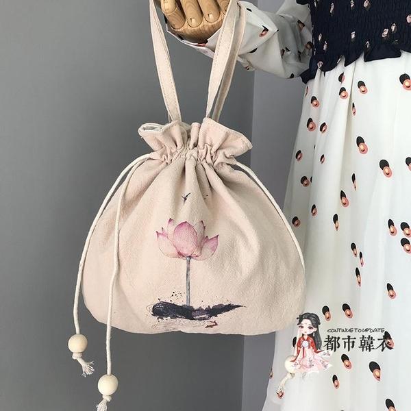 漢服包 森系小包彼岸花古風漢服包中國風荷包仙女刺繡斜背包流蘇單肩包 多款