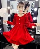 女童洋裝 女童連身裙2020秋裝新款中大童兒童金絲絨裙子春秋洋氣女孩公主裙 零度3C