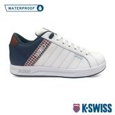 【超取】K-SWISS Lundahl WP格紋防水時尚運動鞋-女-白/藍/紅