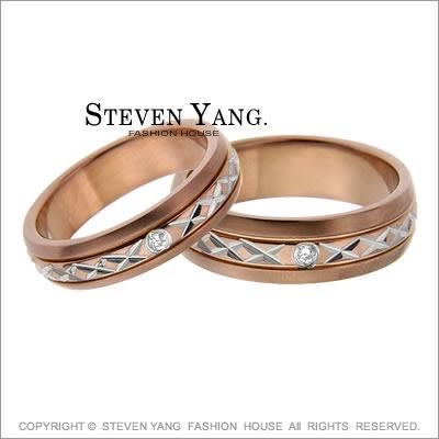 情侶對戒 西德鋼戒指尾戒「幸福無所不在」四款任選*單個價格*
