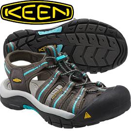 【KEEN 美國 NEWPORT H2 女款 護趾涼鞋〈深灰/粉藍〉】1014200/護趾涼鞋/水陸兩用鞋/休閒涼鞋