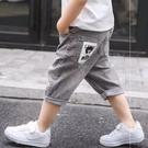 男童七分褲 牛仔短褲洋氣薄款男孩夏裝七分褲子夏季兒童中褲寶寶韓版【快速出貨八折搶購】