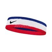 Nike 頭帶 Swoosh HeadBand 藍 白 紅 男女款 勾勾 棉 毛巾布 髮帶 【ACS】 N000154462-0OS