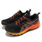Asics 野跑鞋 Gel-Trabuco 9 G-TX 男鞋 黑 橘 防水 運動鞋【ACS】 1011B027002