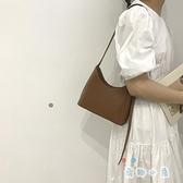 法國流行白色腋下包女包包百搭素色單肩斜挎包水桶包【奇趣小屋】