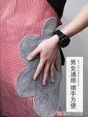 家用可擦手圍裙廚房防水防油 大人男女時尚做飯罩衣日系圍腰可愛 優樂美