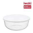【iwaki】日本耐熱玻璃附蓋微波調理碗...