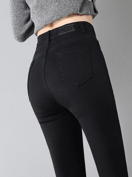 黑色牛仔褲女九分褲2019年秋季新款高腰百搭彈力緊身顯瘦小腳長褲 陽光好物