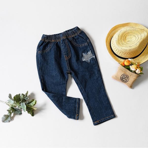條紋抽鬚米奇箭頭牛仔褲 單寧 造型 休閒 美式 長褲 男童裝 女童裝 男童長褲 女童長褲