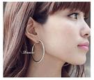 耳環 現貨 專櫃CZ鑽 質感 萬年不敗款 大圓圈 4.5CM 水鑽耳環 S91962 批發價 Danica 韓系飾品