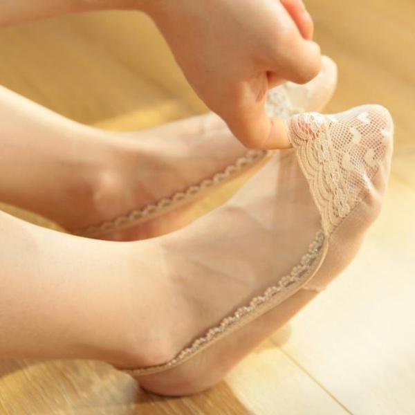 5雙裝 銀絲炫閃短襪 極淺口吊帶隱形船襪 高跟鞋襪子 性感蕾絲