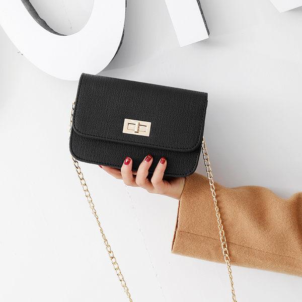 斜背包女包包鍊條小方包側背斜背包時尚鎖扣女包迷你小包 【驚喜價格】