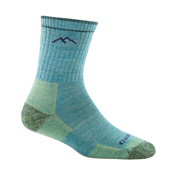 DarnTough Hiker Micro Crew Cushion 1903 女款登山健行羊毛襪 水藍