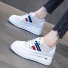 增高鞋 鏤空透氣小白鞋子女2021夏季新...