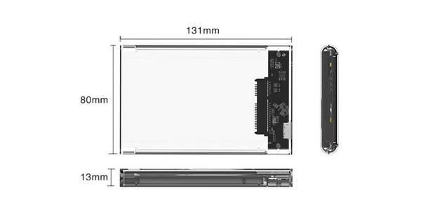 【SG217】SSD轉USB3.0硬碟盒 透明高速移動硬碟盒 2.5寸串口SATA固態硬碟SSD通用