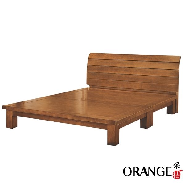 【采桔家居】薩比 時尚6尺實木雙人加大床台組合(不含床墊)