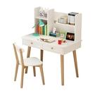 兒童書桌 書架組合北歐電腦家用學生實木書柜一體簡約兒童學習寫字臺【快速出貨八折鉅惠】