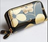 鑰匙包女多功能韓國可愛短款牛皮小手包雙拉錬零錢包迷你新款·享家生活館