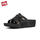專櫃熱銷推薦款【FitFlop】ERIKA WEAVE TOE-THONGS 編織風格夾腳涼鞋-黑色