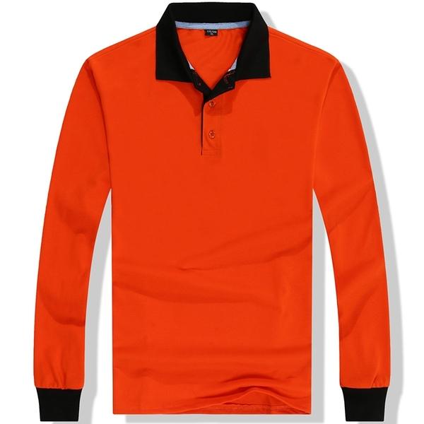 【晶輝團體制服】LS108-配色長袖POLO衫素面款式(印刷免費)工作服,班服,制服