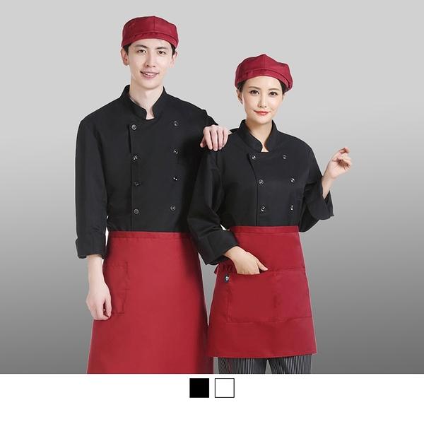 【晶輝團體制服】CH226*白色雙排扣廚師服學生實習餐飲科必備長袖耐磨好洗廚師服