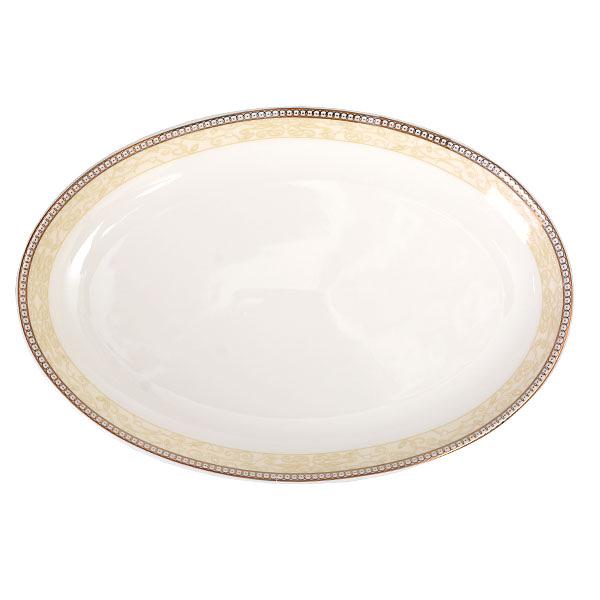 【Luzerne】陸升瓷器 Splendour Gold 27.5cm 橢圓盤 /CW1302029