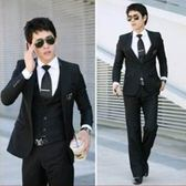 西裝套裝含西裝外套+褲子-精選修身職業成套男西服6x46[巴黎精品]