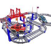 小火車套裝軌道賽車玩具兒童軌道玩具車多層電動小汽車拼裝男女孩WY 全館八折 最後兩天