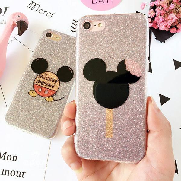 趣味米老鼠iPhone7 6s手機殼閃粉蘋果6plus軟膠保護套7plus全包7plus