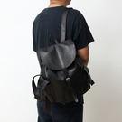 【Solomon 原創設計皮件】佛雷德 手工真皮側邊雙口袋後背包