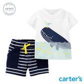 【美國 carter s】 海洋鯨魚2件組套裝-台灣總代理