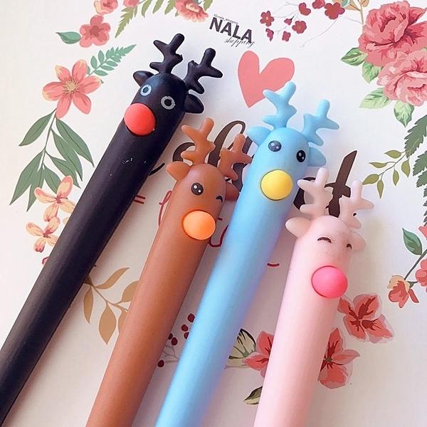 《花花創意会社》外流。可愛糜鹿頭彩色水性筆。四色【H6074】