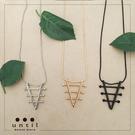 三角習題~金屬系長版項鍊602513/3色