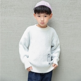 兒童毛衣 男童水貂絨毛衣2019新款秋冬季中大童裝加厚針織兒童冬裝套頭線衣