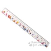 〔小禮堂〕Hello Kitty 透明塑膠尺《粉.45週年》30cm.量尺.直尺.學童文具 4710150-21348