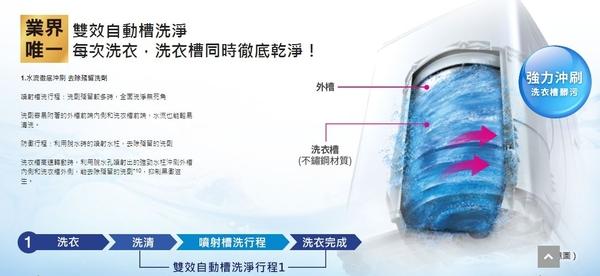 《Panasonic 國際牌》nanoe 17公斤 直立式變頻 溫水 雙效槽洗淨洗衣機 NA-V170GBS-S(不鏽鋼)