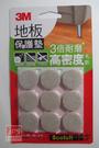3M 米色圓型地板保護墊 (25mm 9入) F2502
