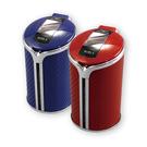 【亞克】《日本YAC》碳纖維太陽能LED煙灰缸 (兩色可選)
