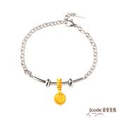 J'code真愛密碼 真愛童話 黃金/純銀白鋼手鍊