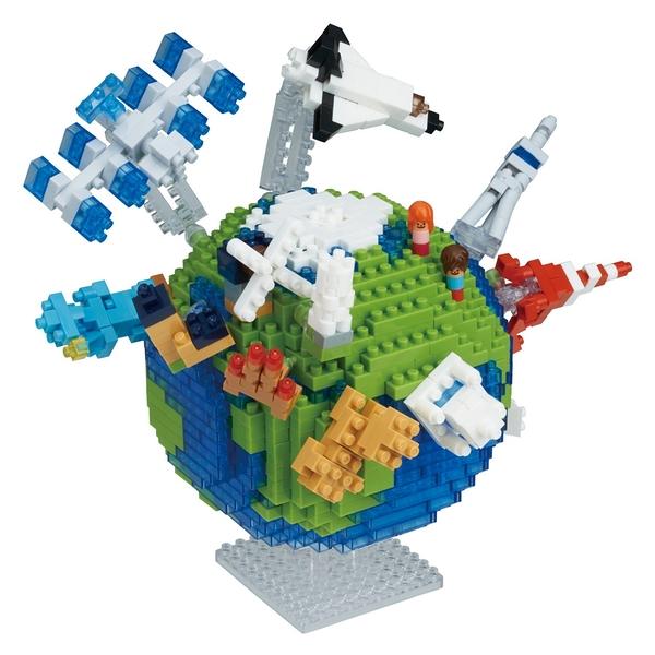《Nano Block迷你積木》NBM_028地球(一般版) / JOYBUS玩具百貨