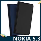 NOKIA 5.3 融洽系列保護套 皮質側翻皮套 肌膚手感 隱形磁吸 支架 插卡 手機套 手機殼 諾基亞
