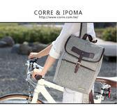 CORRE【LI062】學院風皮釦後背包