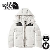 【The North Face 女 700FP防潑水羽絨外套《白》】3VUF/連帽外套/羽絨衣/保暖外套