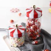 糖罐子 吉樂島 旋轉木馬密封罐 創意玻璃儲物罐咖啡茶葉糖果雜糧收納罐子 歐萊爾藝術館