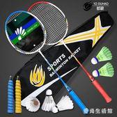 羽毛球拍 2支裝成人學生初學初級業余比賽訓練情侶雙拍 AW5847『愛尚生活館』