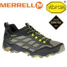 【MERRELL 美國 男款 MOAB FST GORE-TEX 防水戶外多功能健行鞋《橄欖綠/黑》】ML37601/休閒鞋