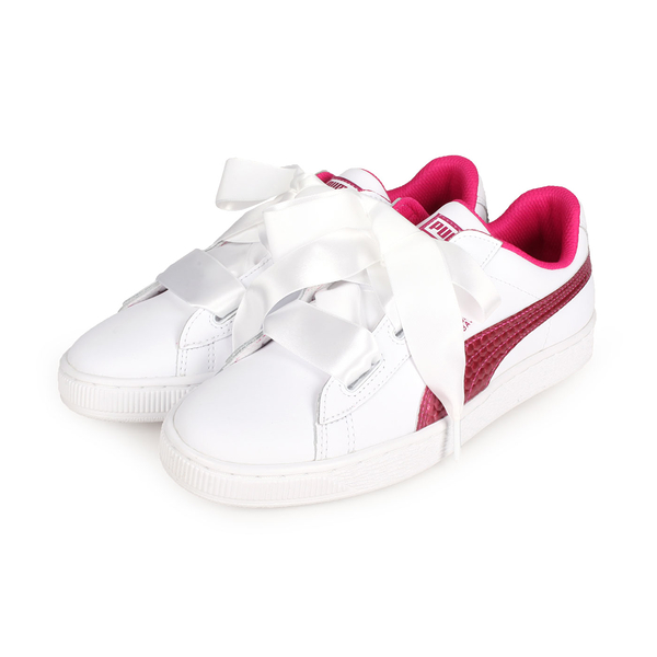 PUMA Basket Heart Coated Glam Jr女大童休閒運動鞋(免運≡體院≡ 368974