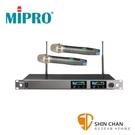 台灣製Mipro 無線麥克風組 (接收機ACT-727B×1台 + 麥克風ACT-72H ×2支)抗干擾/1U雙頻
