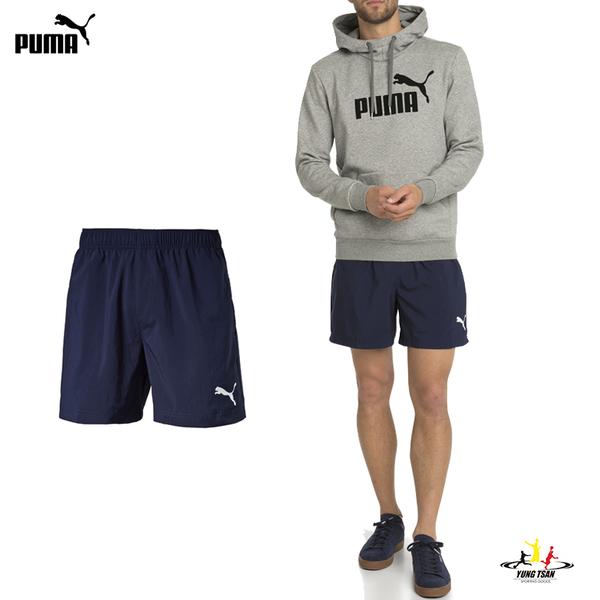 Puma 男 深藍 運動短褲 5分褲 羽球褲 慢跑褲 運動褲 健身 透氣 排汗 褲子 83827106